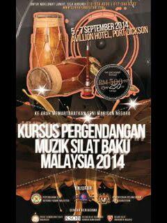 Kursus Pergendangan Muzik Silat Baku Malaysia2014